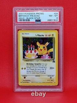 Mint Birthday Pikachu Psa Holo Pokemon Card Original Black Star Promo #24