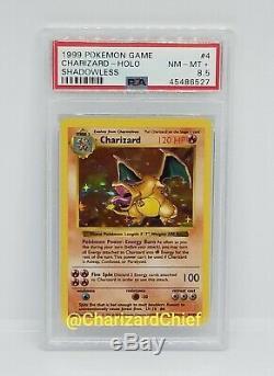 Mint Shadowless Charizard Holo Set Base Originale 1999 Collection 4/102 Psa Foil