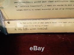 Napoleon Hill / Ont Signé Le Edison Document 34 Pages Colline De Personal Writings # 1