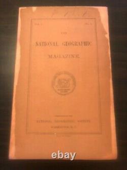 National Geographic Volume 1 Numéro 1 Très Rare Original Not Réimpression