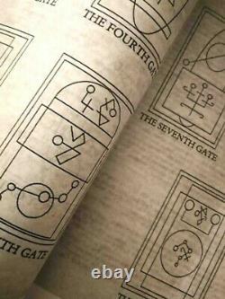 Necronomicon Livre Original John Dee Occulte Sombre Rare Grisoire Mort Mal Satanique