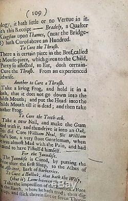 Occulte 1696 John Aubrey Miscellanies Omens Magick Abracadabra Apparitions Spells