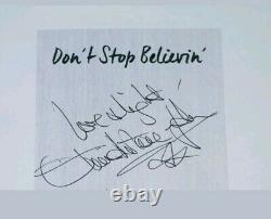 Olivia Newton John Nom Complet Signé 1er Ed H / C Livre Don't Stop Believin With Coa
