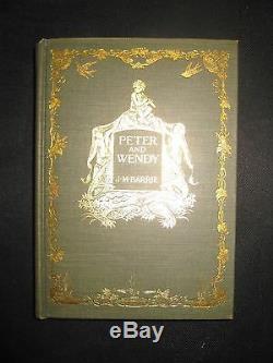 Peter Et Wendy Original 1er Numéro Veste 1911 J. Barrie M. 1ère Belle Édition