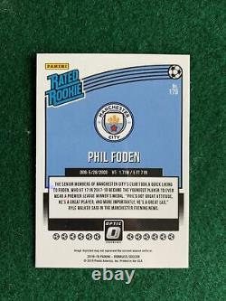 Phil Foden Donruss Optic Rookie Card #179 Manchester City Rc