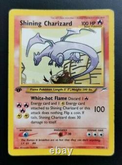 Pokémon Tcg Ensemble De 3 Cartes Holo Charizard Rares Brillant, Sombre Et Original Base