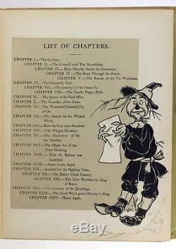 Première Édition 2e Etat 1900 Le Magicien D'oz L Frank Baum W W Denslow