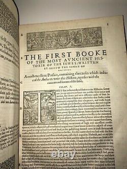 Première Édition Anglaise De Josephus! (imprimé En 1602!) Histoire Antique Juifs Bibliques