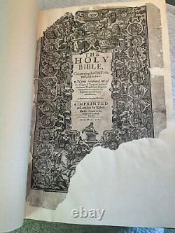Première Édition King James Bible 1611 The Great She Bible Rare True 1st Ed