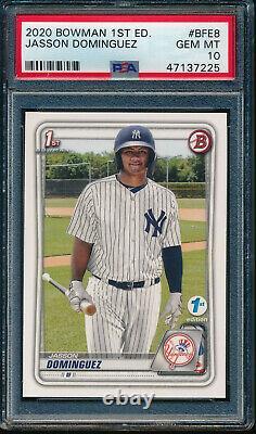 Psa 10 Jasson Dominguez 2020 Bowman 1ère Édition Yankees Carte Rookie Rc Gem Mint