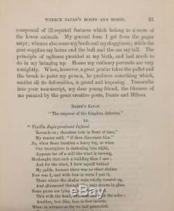 Rare L'autobiographie De Satan 1872 Occulte Théologie / Démonologie Antique Book