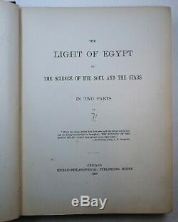 Rare Livre Lumière D'egypte 1889 1er Occulte Hermetic Brotherhood Luxor Burgoyne