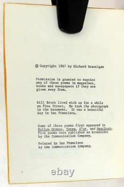 Richard Brautigan 1ère Édition 1967 Tous Surveillés Par Des Machines De Grâce Aimante
