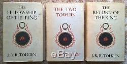 Seigneur Des Anneaux Set Fellowship Tolkien 1ère Édition Deux Tour Retour Roi
