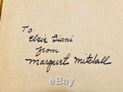 Signé Autant En Emporte Le Vent Peut 1936 Avec Dj 1st Printing Première Édition Autograph