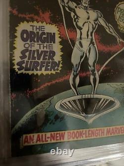 Silver Surfer #1 Cgc 3.5 Origine Du Silver Surfer! 1968 L'âge D'argent Marvel Key