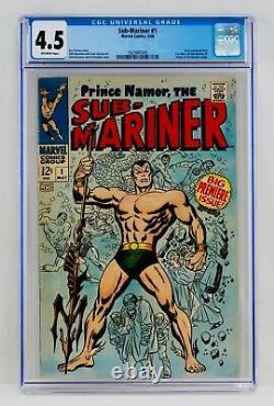 Sous-marinier #1 Cgc 4.5 1968 Prince Namor Origine Graal Clé Marvel Comics Iron Man