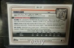Spencer Torkelson 2020 Bowman Draft 1ère Bowman 1ère Édition Blue Foil /150 Tigers