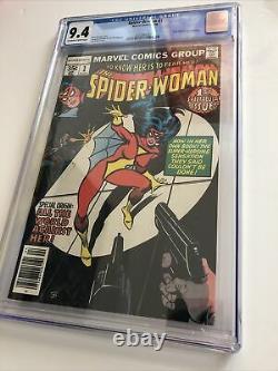 Spider-woman 1 Cgc Grade 9.4 Owithw Pages 1978 Marvel Comics Nouvelle Histoire D'origine