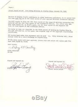 Stephen King Avant Que Le Jeu Signé 44 La Page Manuscrit Brillante Excisés Prologue