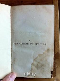 Sur L'origine Des Espèces 1er 1er Imprimons Etat 1860 Charles Darwin 2 Citations