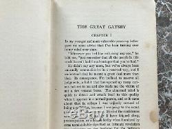 The Great Gatsby, True Première Édition, 1925, Par F. Scott Fitzgerald 1er / 1er