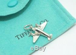 Tiffany & Co. En Argent Sterling 1ère Édition Avion Voyage Pilot Charme