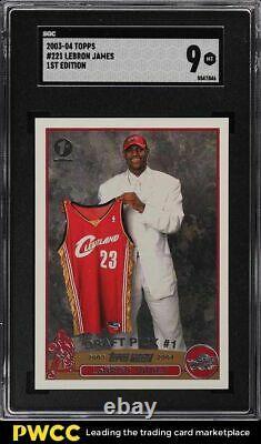 Topps 2003 1ère Édition Lebron James Rookie Rc #221 Sgc 9 Mint