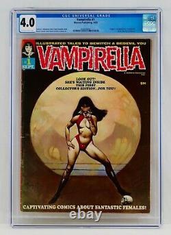 Vampirella #1 Cgc 4.0 Première Apparition Et Origine 1ère App Warren Magazine 1969 Key