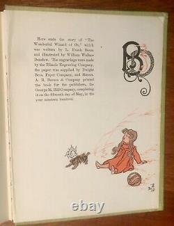 Wonderful Wizard Of Oz Par L. Frank Baum, 1900, Première Édition