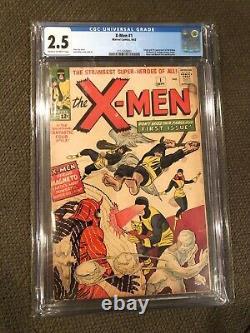 X-men #1 (1963) Cgc 2.5 1ère Édition Uncanny Xmen Comic Marvel Original