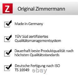 Zimmermann Sport Bremsen Kit Bremscheiben + Bremsbeläge Ø312 Vorne Audi Tt 8n